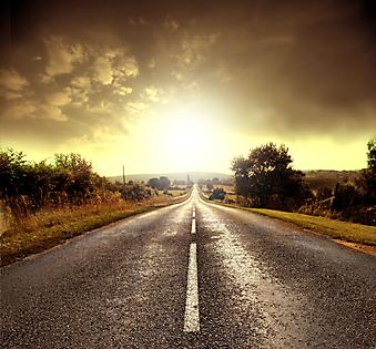 Проселочная дорога. (Код изображения: 06018)