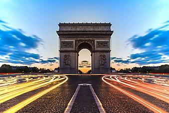 Дорога к Триумфальной арке, Париж (Каталог номер: 06068)