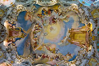 Потолочная фреска. (Код изображения: 12003)