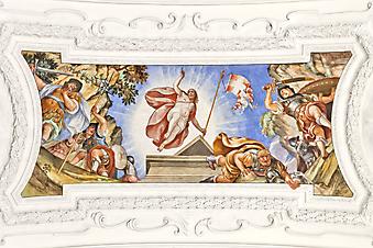 Потолочная фреска. (Код изображения: 12005)