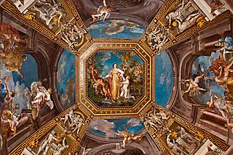 Потолок в зале, Ватикан. (Код изображения: 12006)