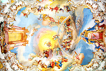 Потолочная фреска. (Код изображения: 12008)