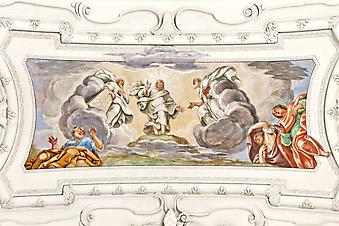 Религиозная фреска. (Код изображения: 12012)