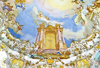 Фреска в старой церкви. (Код изображения: 12015)
