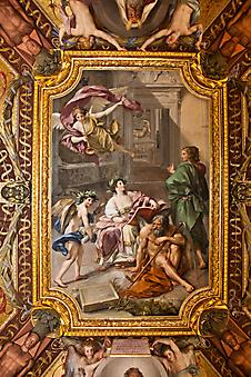 Потолок в зале, Ватикан. (Код изображения: 12024)
