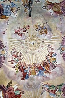 Потолочная фреска. (Код изображения: 12025)