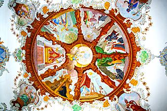 Фреска церкви Святого Духа. Германия. (Код изображения: 12030)
