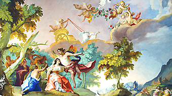 Интерьер дворца Нимфенбург. Мюнхен. Германия. (Код изображения: 12033)