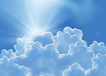Солнце над тучами. (Код изображения: 12038)