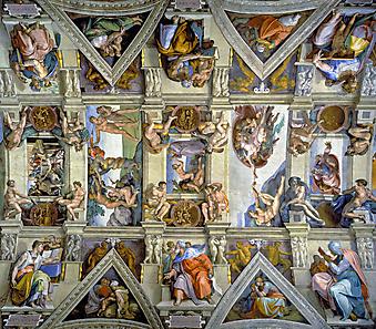 Фрески. Сикстинская капелла. Ватикан. (Код изображения: 12052)