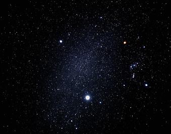 Фото ночного неба. (Код изображения: 12056)
