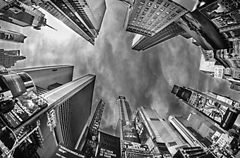 Небоскребы Нью-Йорка. Черно-белое (Каталог номер: 12075)