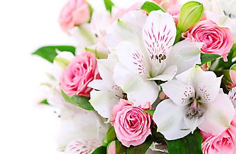 Букет из роз и орхидей. (Код изображения: 09214)