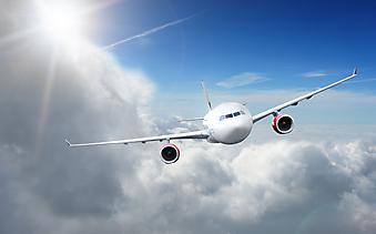 Самолет в небе. (Код изображения: 13005)