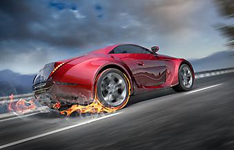 Спортивный автомобиль. (Код изображения: 13006)