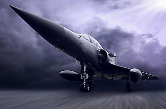 Военный самолет. (Код изображения: 13010)