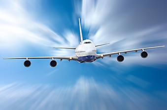 Самолет в небе. (Код изображения: 13013)