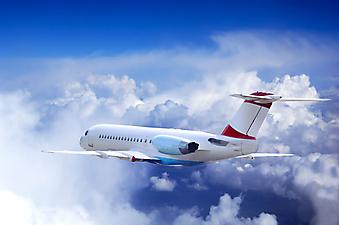 Самолет в небе. (Код изображения: 13017)