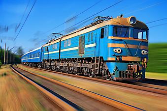 Пассажирский поезд. (Код изображения: 13030)