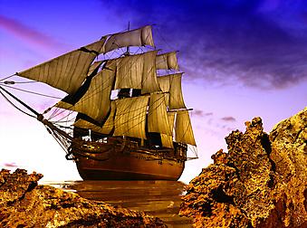 Старый корабль. (Код изображения: 13047)