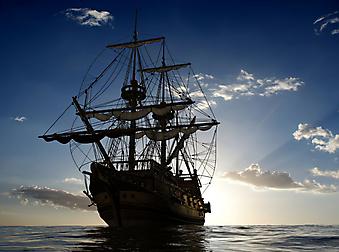 Старый корабль. (Код изображения: 13048)
