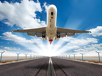 Взлет самолета. (Код изображения: 13049)