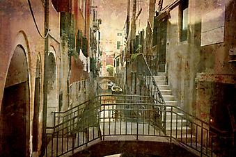 Открытка из Венеции. (Код изображения: 14009)