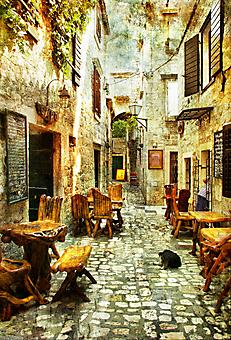 Улочка Хорватии. (Код изображения: 14021)
