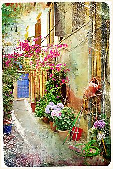 Живописный дворик. (Код изображения: 14027)