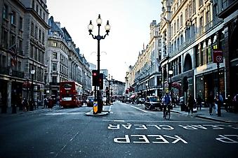 Оживленные улицы Лондона (Код изображения: 14043)