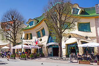 Уличное кафе в городке Сопот. Польша. (Код изображения: 14064)