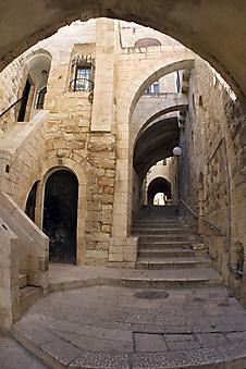 Арки на улицах Иерусалима. (Код изображения: 14071)