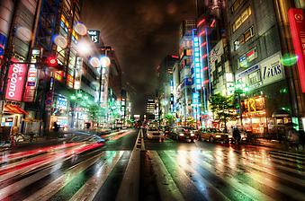 Улицы ночного Токио (Код изображения: 14081)