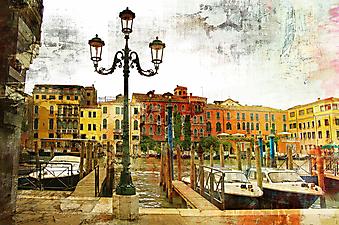 Улочка Венеции на рассвете  (Каталог номер: 14085)
