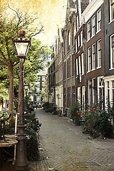 Фонарь на старой улочке Амстердама (Каталог номер: 14089)