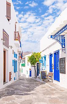 Яркая старая улица. Греция (Каталог номер: 14108)