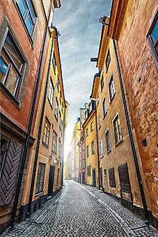Старая улица Стокгольма. Швеция (Каталог номер: 14120)