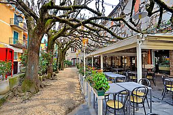 Уличное кафе в Сирмионе, Италия (Каталог номер: 14132)