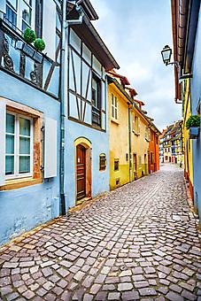 Старые улочки Эльзаса, Франция (Каталог номер: 14139)