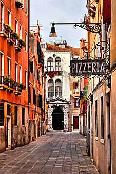 Пиццерия на улице в Венеции (Каталог номер: 14155)