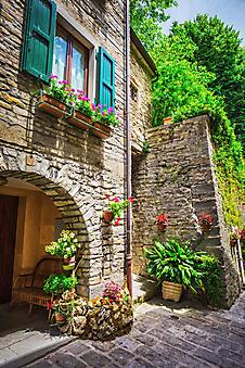 Веранда с цветами, Италия (Каталог номер: 14175)
