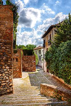 Старая улочка, Испания (Код изображения: 14040)
