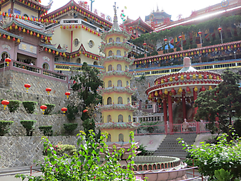Внутренний дворик буддийского храма, Китай (Код изображения: 14041)