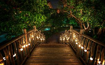 Деревянный мост. (Код изображения: 15019)