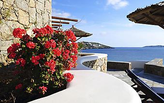 Вид на море с балкона. Греция (Код изображения: 15034)
