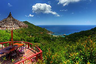 Вид с балкона на острове Ко Тао (Каталог номер: 15048)