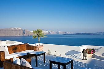 Терраса с видом на Эгейское море  (Каталог номер: 15077)