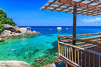 Бамбуковая беседка у моря на острове Самуи (Каталог номер: 15079)