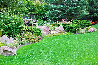 Лавочка в саду (Каталог номер: 18051)