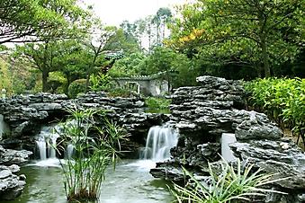 Водопад в японском саду (Каталог номер: 18113)